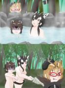 【けものフレンズ】温泉での休息