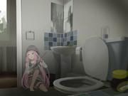 トイレのかわいい角待ちショットガン