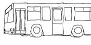 日本メーカー風ノンステップバス