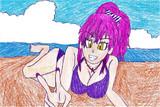 美嘉姉 on the beach