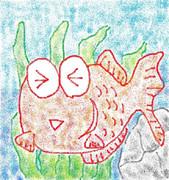 リクされたので(赤い)金魚描いて見た
