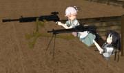 由良と秋月の射撃訓練【第七回ガンアクションinMMD】