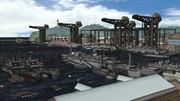 軍用港の風景