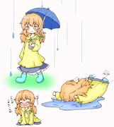雨と魔理沙