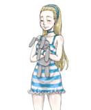 金髪の少女・笑顔