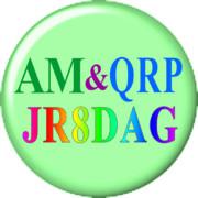 JR8DAGのAM & QRP ホームページロゴ(円形タイプ)