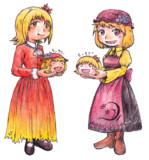 まんじゅうと秋姉妹