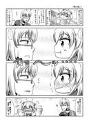 東方壱枚漫画録78「照れ笑い」