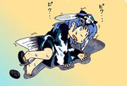 「海はしょっぱい」という事実を知らずに大はしゃぎで飛び込んでしまった人面魚ちゃん