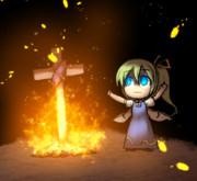 焼き芋してる時の大妖精ちゃん