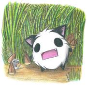 パンダ?のタケノコ採り