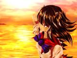 【リク絵】夕日のアマノジャク