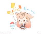 かき氷キーン!ぽいぬちゃん!