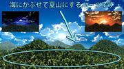【スカイドームパーツ】夏山(昼・夕・夜)SPA5【MMDステージ配布】
