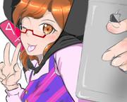 菫子「アヘ顔シングルピース!」<パシャッ