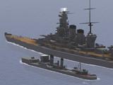 駆逐艦幸風&巡洋戦艦白根