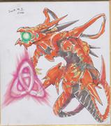 今日の色紙#336「トポロジック・ボマー・ドラゴン」