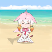 ナルカちゃんあっと砂浜