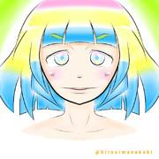 七色ナナコちゃんを描いてみた〆(・ω・。)
