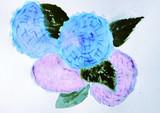 紫陽花を描いてみた(立体感ZERO)