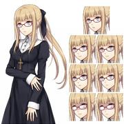 シスター風衣装の少女◆差分サンプル