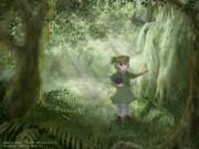 森の奥で何か見つけたカカポちゃん(よその子)