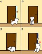 ある日のドアの前
