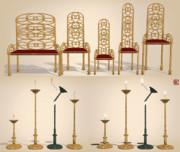 椅子と燭台