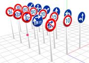道路標識セットその1Ver1.1【更新しました】