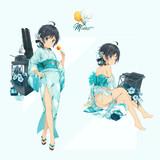 夏祭りの浴衣松風。
