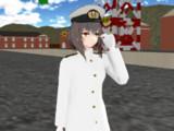 三笠に旧日本海軍軍服を着せてみた