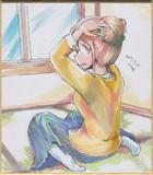 今日の色紙#348「四ノ宮しおり」