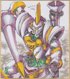 今日の色紙#350「騎士ロボ」