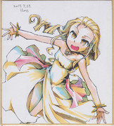 今日の色紙#362「ドレスのお嬢様」