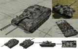 MMD用モブ主力戦車1975(モヴパルト1A4)セット