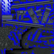 手書きドット絵でダライアスバーストACのzone Z風な背景を再現してみた の素材