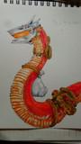 【オリジナル】荷物運びの赤蛇