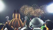 サーバルちゃんとかばんちゃん、花火を眺める。