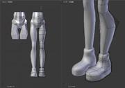 Blender_20170809_01.強化繊維服の脚・靴部分テスト