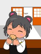 チョコモナカジャンボを食べるNYN姉貴