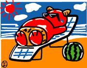 ウェザーニュース、ソライブ美術館7月26日分:お題「夏」