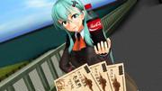 鈴谷からジュースを買おうとする提督