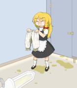 トイレに間に合わなかったSZ姉貴