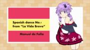 スペイン舞曲の自作動画用のイラスト