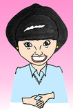 2004年に描いた黒柳徹子さん