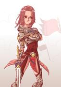 戦場の女騎士