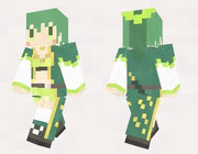 【minecraft】ホップ(花騎士) スキン(サンプル)