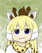 キリンの反芻してる顔