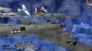 【MMDモデル配布】B-17 Flying Fortress-G