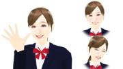 【MMDモデル配布】表情モーフ搭載エキストラ:WEP式HyperI子